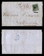 0105 ANTICHI STATI - TOSCANA - 4 Crazie (6) Su Lettera Da Livorno A Modena Del 2.6.54 - Grandi Margini (1.100) - Stamps