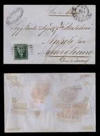 0106 ANTICHI STATI - TOSCANA - 4 Crazie (6) Isolato Su Lettera Da Livorno A Napoli Del 24.3.55 - Ottimi Margini - Tassat - Stamps