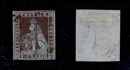 0108 ANTICHI STATI - TOSCANA - 1851 - 9 Crazie (8a) - Ottimi Margini - Annullo Leggero - Molto Bello - Diena (1.500) - Stamps
