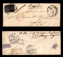 0109 ANTICHI STATI - TOSCANA - 9 Crazie (8a) Isolato Su Bustina Da Firenze A Parigi Del 20.10.52 - Corto In Verticale (6 - Stamps