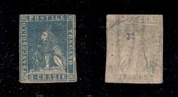 0111 ANTICHI STATI - TOSCANA - 1857 - 2 Crazie (13) - Appena Corto In Alto - Cornice Rotta A Destra (su N) - Piena Gomma - Stamps