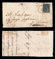 0112 ANTICHI STATI - TOSCANA - Pisa (rosso-Pti. R2) - 2 Crazie (13) Preciso In Alto - Intero Frontespizio Di Lettera - R - Stamps