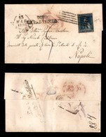 0114 ANTICHI STATI - TOSCANA - 6 Crazie (15) Preciso A Destra - Lettera Da Lucca A Napoli Del 15.3.58 - Chiavarello (1.8 - Stamps