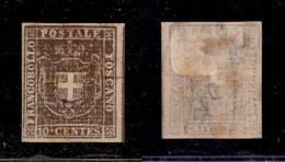 0119 ANTICHI STATI - TOSCANA - 1860 - 10 Cent (19h) Con Grandi Margini E Parte Di Linea Di Riquadro A Destra - Annullo R - Stamps