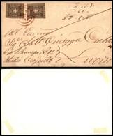0120 ANTICHI STATI - TOSCANA - Lari (rosso-Pti.12) - Due 10 Cent (19) - Frontespizio Di Lettera Per Livorno Del 7.1.60 - - Stamps