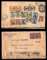 0728 OLTREMARE - CINA - Aerogramma Da Shanghai A Milano (via Siberia) Del 3.9.30 Con Affrancatura Multipla Per 1,16 Yen - Stamps