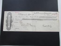 Prima - Wechsel 1932 Mit Fiskal Marke Deutsche Wechselsteuer. Dresdner Bank Filiale Stuttgart. Backnang - Wechsel