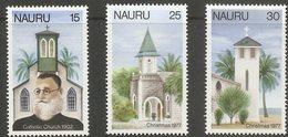 Nauru 1977 -  Christmas Isssues - Churches  - 2 Values MNH - Chiese E Cattedrali
