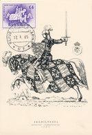 D34129 CARTE MAXIMUM CARD 1965 SAN MARINO - HORSES CHIVALRY COAT OF ARMS CP ORIGINAL - Coat Of Arms