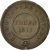 Monnaie, Grande-Bretagne, Rose Copper Company, Halfpenny Token, 1811 - Monnaies Régionales