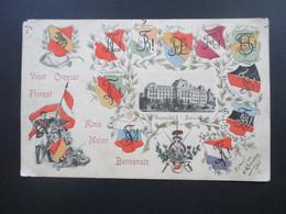AK Studentika Vivat Crescat Floreat. Alma Mater Bernensis. Universität Bern. Entwurf E.W.Schreiber 1905 - Schulen