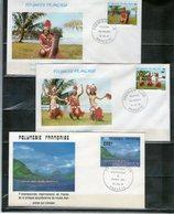 POLYNESIE FRANCAISE: Lot De 7 FDC - FDC