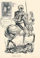 D34133 CARTE MAXIMUM CARD 1964 SAN MARINO - HORSES CHIVALRY TOURNEMENT COAT OF ARMS KNIGHTS - L.115 CP ORIGINAL - Coat Of Arms