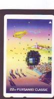 Telecarte JAPON * BALLON * MONTGOLFIERE (1631) Hot Air Balloon * Aerostato * Heißluft PHONECARD JAPAN - - Sport