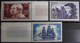FD/2076 - TIMBRES DE 1955 - FRANCE - N°1033 à 1035 NEUFS** - LUXE - Cote : 16,30 € - France