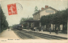 MORMANT LA GARE AVEC LE TRAIN  EDITION LAMBERT - Mormant