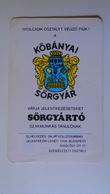 AV451.25  Köbánya Budapest -Beer Brewery -Cerveza-Birra-Calendrier De Poche  - Hongrie  -Pocket Calendar  -Hungary  1978 - Calendars