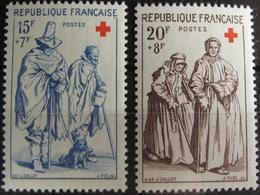 FD/2083 - TIMBRES DE 1957 - FRANCE - CROIX ROUGE - N°1140 à 1141 NEUFS** - Cote : 11,50 € - France