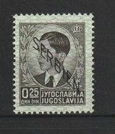 Serbien / Freimarken: Neuauflagen Von Jugoslawien Mit Schrägem Aufdruck Von Links Oben  / MiNr: 1 - Besetzungen 1938-45