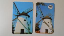 AV451.29 Mouline A Vent - Windmill - Szeged - 2 Calendrier De Poche  - Hongrie  -2 Pocket Calendar  -Hungary  1984-86 - Petit Format : 1981-90