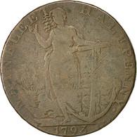 Monnaie, Grande-Bretagne, Lincolnshire, Halfpenny Token, 1793, Wainfleet, TB - Monnaies Régionales