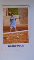 AV451.32 Tennis -Taróczi Balázs -   Calendrier De Poche - Hongrie - Pocket Calendar  -Hungary 1979 - Calendars