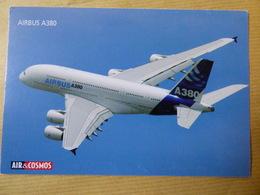 AIR ET COSMOS  CARTE PUBLICITAIRE  AIRBUS A 380 - Pubblicitari