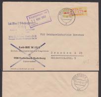DDR DRESDEN A20, ZKD B18IM Ortsbrief Leit-Büro Für Erfindungswesen 11.11.58 - Oficial