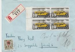 Suisse Lettre Recommandée Taxée Basel 1938 - Poststempel