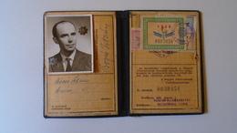 DEL004.1 Permis Ferroviaire -Railway Permit - MÁV Hungary  1960's  - Tax Stamp - Transportation Tickets