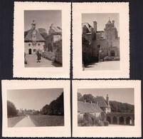 4 VIEILLES PHOTO'S - FINISTERE - SAINT VOUGAY -  ** CHATEAU DE KERJEAN ** - Saint-Vougay