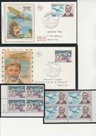 MONACO - N° 910 BLERIOT +N° 959 FARMAN BLOC DE 4 + FDC -ANNEE 1972-74 - Unused Stamps
