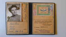 DEL004.3 Permis Ferroviaire -Railway Permit - MÁV Hungary  1960's  - Tax Stamp - Transportation Tickets