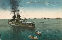 "Regia Marina Militare Italiana, Regia Nave ""Leonardo Da Vinci"" Nel Mar Grande Di Taranto - Guerra"