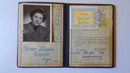 DEL004.6 Permis Ferroviaire -Railway Permit - MÁV Hungary  1950-60's  - Tax Stamp - Transportation Tickets