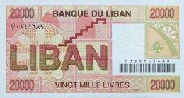 Lebanon 20.000 Livres, P-72 1995 UNC - Libanon