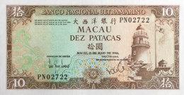 Macao 10 Patacas, P-59e 1984 UNC - Macau