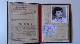 DEL004.7  Permis Ferroviaire -Railway Permit - MÁV Hungary  1980's  - Tax Stamp - Transportation Tickets