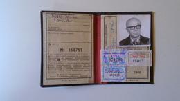 DEL004.9  Permis Ferroviaire -Railway Permit - MÁV Hungary  1980's  - Tax Stamp - Transportation Tickets
