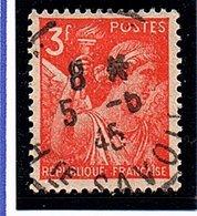 Type IRIS DE 1944 -3F Rouge-orange  N° 655 Obl. - France