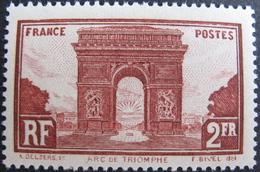 R1752/440 - 1929 - ARC DE TRIOMPHE DE L'ETOILE DE PARIS - N°258 NEUF* - LUXE - Cote : 42,00 € - France