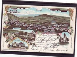 Alte AK Litho JOHANNESTHAL Schlesien Janov Jägerndorf Hillersdorf Hennersdorf, Schwidernoch 1900 - República Checa