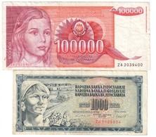 Yugoslavia Lot 2 ZA/ZB Replacement Banknotes - Yugoslavia