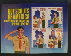 O)2010 GRENADA, BOY SCOUTS OF AMERICA FROM 1910-SCOUTING, SLIGHTLY MALTREATED.MNH - Grenada (1974-...)
