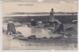 L'Ile Grande : Le Lavoir - Carte Rare Mais Recollée - Lespinasse - Francia