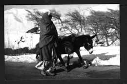 AFGHANISTAN  AFGHAN Et Ses Anes  Carte Photo En Noir Et Blanc Années 70 - Afghanistan