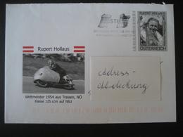 Österreich- Traisen, Ganzsache Rupert Hollaus, Motorradweltmeister 1954 - Enteros Postales