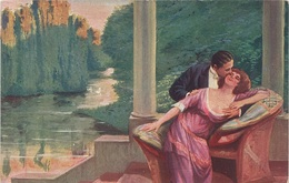 Künstlerkarte AK L. Lauba Pinx Liebelei Amourette Milkoyani Edes Perczek Kochanie Kunst Art Malerei - 1900-1949