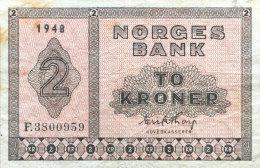 Norway 2 Kroner, P-16b 1948 - Norvège