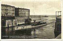 """Regia Marina Militare Italiana, Regio Cacciatorpediniere """"C M Calatafimi"""" Al Passaggio Del Canale Di Taranto - Guerra"""